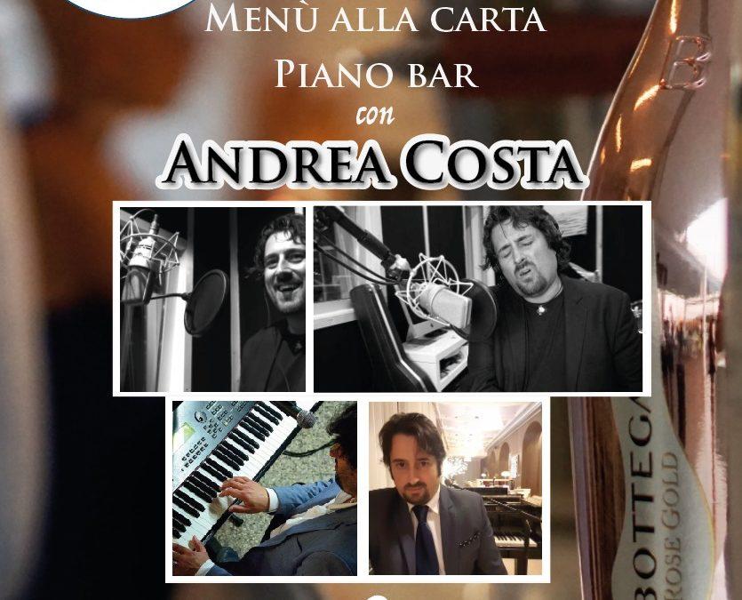20 luglio – menù alla carta e piano bar con Andrea Costa